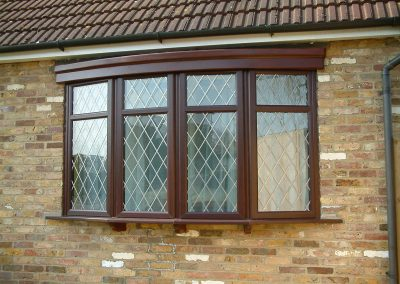 Wood effect bay windows.
